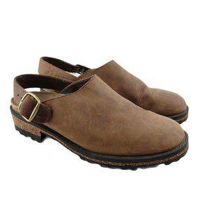 Bass Y2K slingback cork lug sole mules womens 8.5